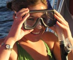 Scuba lessons:  Mask fit and comfort