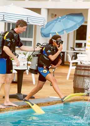 Scuba training for teens